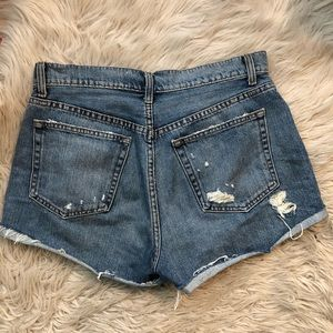 Reformation Shorts - Reformation Distressed Denim Shorts